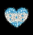 honduras flag sparkling heart badge vector image