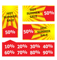 hot summer sale banner vector image