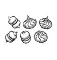 ink sketch meringue cookies vector image vector image