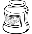 jam in jar cartoon coloring page vector image vector image