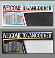 layouts for vancouver vector image vector image