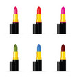 lipstic colored set vector image vector image
