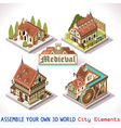 Medieval 02 Tiles Isometric vector image vector image