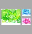 modern easter set modern happy easter cards vector image