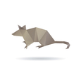 Mouse abstract isolated on a white backgrounds vector image
