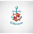 nautical anchor Symbol of vector image vector image