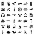 network technology icons set simple style vector image vector image