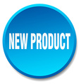 new product blue round flat isolated push button vector image vector image