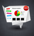 Paper website template vector image