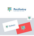 presentation chart logotype with business card vector image vector image