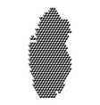 qatar map from 3d black cubes isometric abstract