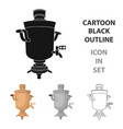 samovar icon in cartoon style isolated on white vector image vector image