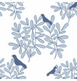 seamless background with branches and birds vector image vector image