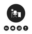 set of 5 editable interior icons includes symbols vector image vector image