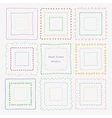 Set of dividers and borders Hand-drawn elements vector image