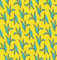 Sketch tea leaves pattern vector image vector image