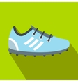 Soccer shoes flat icon vector image vector image