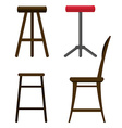 Stools vector image vector image
