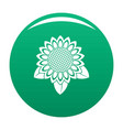 sunflower leaf icon green vector image