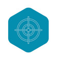 target icon outline style vector image vector image