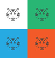 Tiger logo or icon in vector image vector image