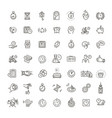 time and date related line icon set vector image