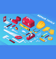 tools for building and repair or builder items vector image