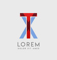 tx logo letters with blue and red gradation vector image vector image