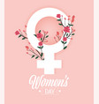 women sign with roses plants to celebration event vector image vector image
