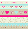 Pink and blue floral ornament vector image