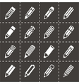 Pencil icon set vector image