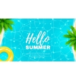 Hello summer web banner vector image
