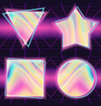 80s background holographic backdrop retro vector image