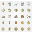 Agriculture icons collection vector image