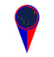 alaska map pointer location flag vector image vector image