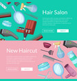 banners with hairdresser or vector image