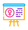 blackboard female icon outline vector image vector image