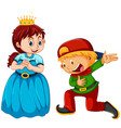 boy and girl wearing costume vector image