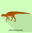 brachylophosaurus icon flat style vector image vector image