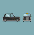 british taxi car in flat style vector image