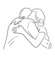 businessman embracing a woman vector image vector image