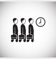 businessmans goes to office on white background vector image vector image