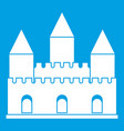 castle tower icon white vector image vector image