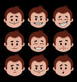character with different facial expressions vector image
