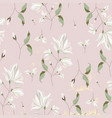 chic magnolia floral pattern on blush pink vector image