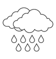 Cloud icon outline style vector image vector image