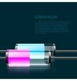 colored glass bulbs vector image