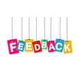 colorful hanging cardboard Tags - feedback vector image vector image