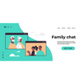 couple having virtual meeting with grandparents vector image vector image
