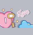 cute love cartoons vector image